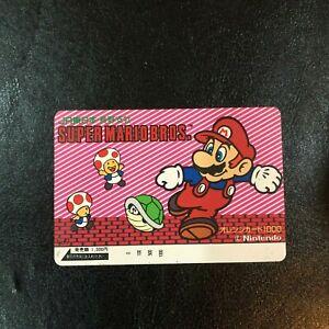 Nintendo Super Mario Toad Koopa Troopa Phone Card Jr No 7 Japan