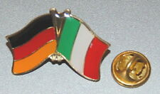FREUNDSCHAFTSPIN PIN 0078 ANSTECKER DEUTSCHLAND/ITALIEN FAHNE BUTTON METALL PINS