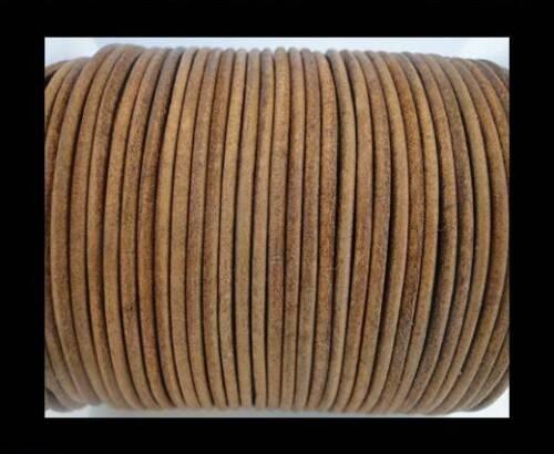 Vintage Rund Leder Kordel Echt 1,1 .5,2,3,4,5mm für Schmuck String Spitze String