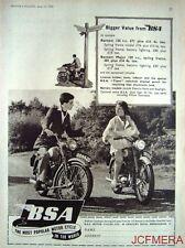 1955 Motor Cycle ADVERT - B.S.A. '125cc Bantam' & '150cc Bantam Major' Print AD