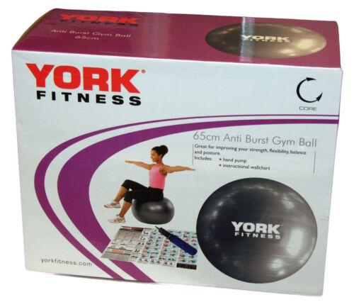 York Exercice Gym Ball 65 cm Anti-burst Fitness Exercice Yoga Set