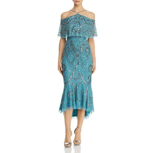 Aidan Mattox Womens Embellished Sleeveless Party Cocktail Dress BHFO 6943