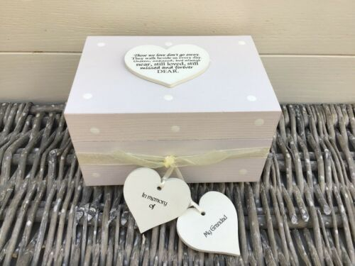 Shabby Personalised Chic In Memory Of Grandad ~ Grandpa Or ANY NAME Keepsake Box