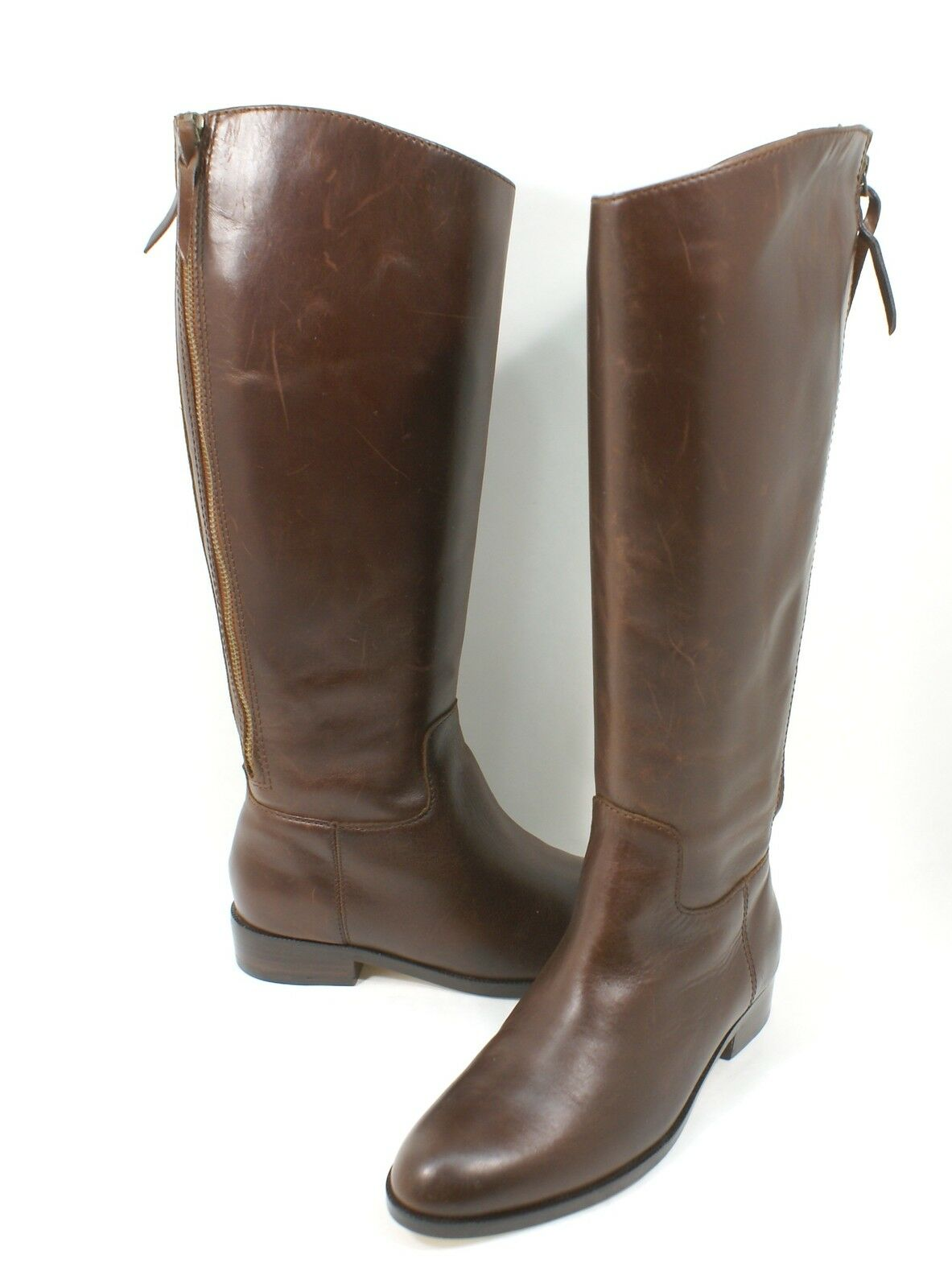 New Cole Haan Brown Arlington Leather Knee-High Riding Boots Size 6