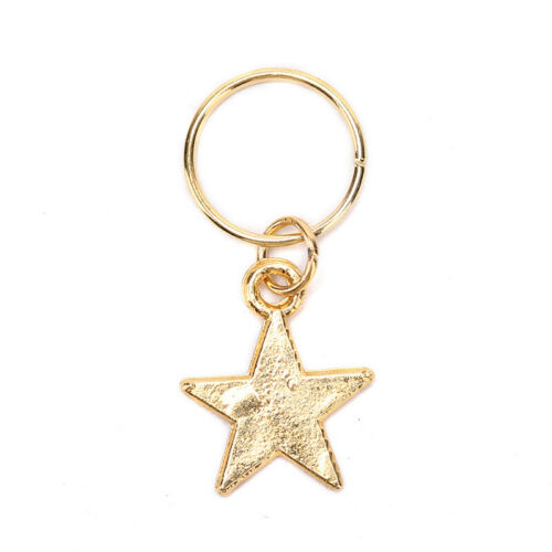 50x Gold Shell Snowflake Pendant Rings Hair Clip Accessories for Braid Jewelr TD