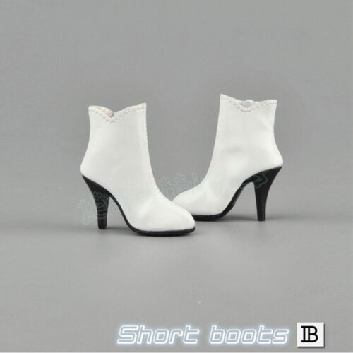 """ZYTOYS-1//6 Scale Female Short Boots White Shoes for 12/"""" Action Figure ZY1005"""