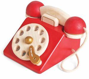 Le-Toy-Van-HONEYBAKE-PLAY-VINTAGE-PHONE-Wooden-Toy-BN