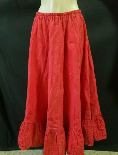 TACHI CASTILLO Women's Maxi Red Skirt Vintage 80's