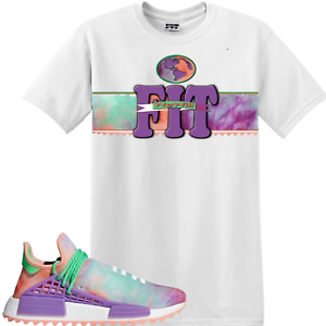Details about We Will Fit shirt 4 Adidas x Pharrell Williams HU NMD Holi Powder Dye Human race