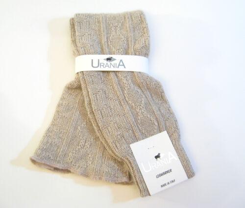 NEW Urania Italy Angora Blend Leg Warmers Diamond Rib Oatmeal