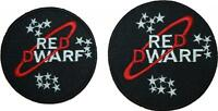"""Red Dwarf Red Dwarf Logo Badge Embroidered Patch 3"""" or 3.5"""""""