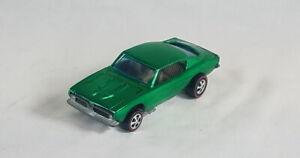 Restored Hot Wheels Redline - 1968 - Custom Barracuda - Green