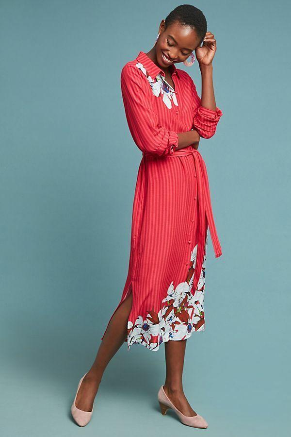 Nouvelle Anthropologie cudrey Floral Shirtdress par Bl-nk. Grand