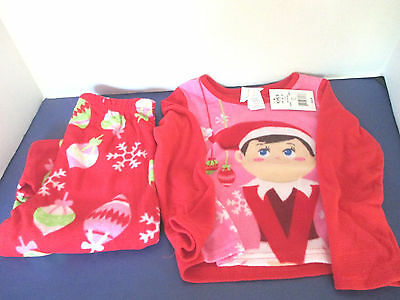 Provided Elf On A Shelf~2 Piece~pink & Red~pajama Sleepwear Pj's Set~girls Size 4t~nwt Baby & Toddler Clothing