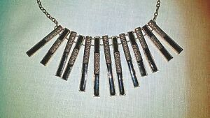 Brutalist-Choker-Necklace-Black-Enamel-on-Copper-Matte-Gilt-Vtg-80s