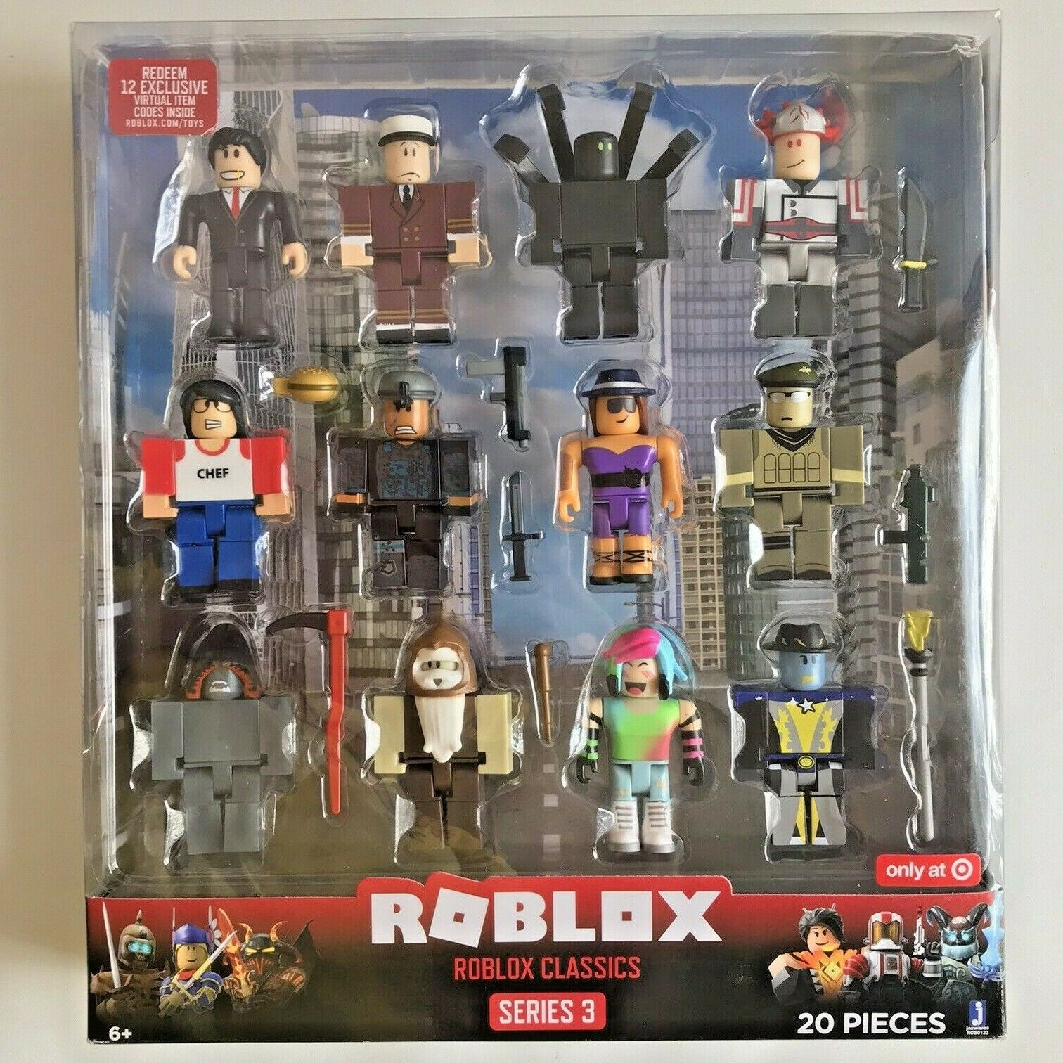 Roblox Game Cards Target Roblox Classics Series 3 New Sealed 20 Pieces With Codes Target Exclusive For Sale Online