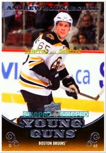 UPPER-DECK-2010-ANDREW-BODNARCHUK-NHL-RC-BOSTON-BRUINS-YOUNG-GUNS-ROOKIE-208