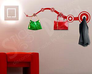 Appendiabiti Adesivi.Dettagli Su Wall Stickers Appendiabiti Adesivi Murali Forma Moderna Adesivo Murale