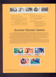 2637-41-29c-Summer-Olympics-USPS-9221-Souvenir-Page