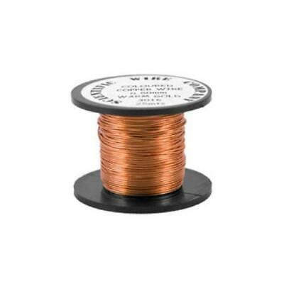 1 x Pale Bronze Round Copper Craft Wire 15 Metre x 0.5mm Coil W5016 Charming Beads
