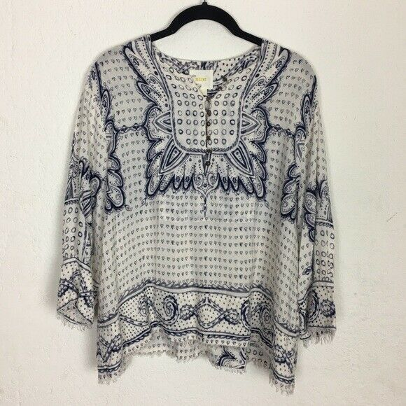 Anthropologie   Maeve Boho Long sleeve Top XS