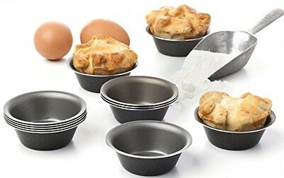 Maxi Nature Pack Of 12 Mini Pie Muffin Cupcake Pans Bakeware 3.1 Inch Tins