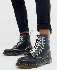 Dr.Martens Icon 1460 Stud Unisexe Bottines Cheville Chaussures Imperméable
