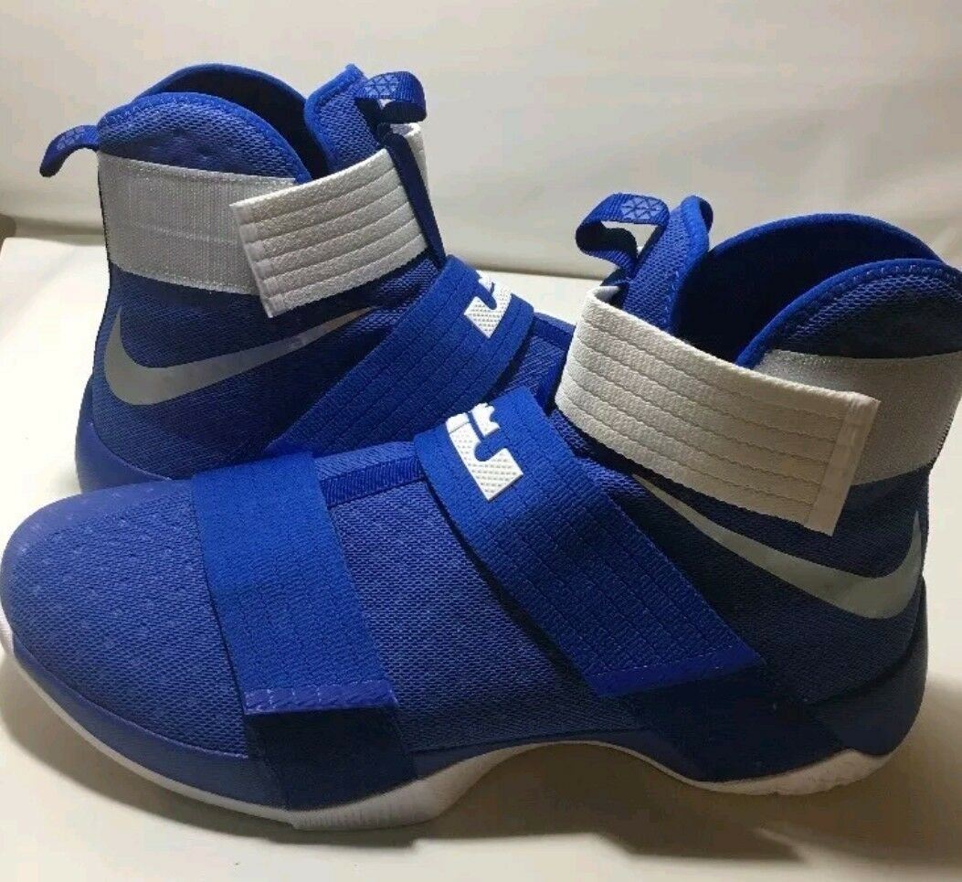 Nike LEBRON Soldier X 10 TB Promo 856489-441 Royal Blue, SIZE 17.5