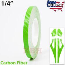 14 Vinyl Pinstriping Pin Stripe Line Tape Decal Sticker 6mm Carbon Fiber Green
