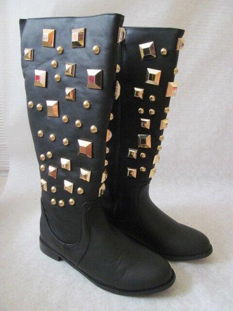 Joan Boyce Negro tamaño Botas Altas Adornado tamaño Negro 9 M-Nuevo 128a51