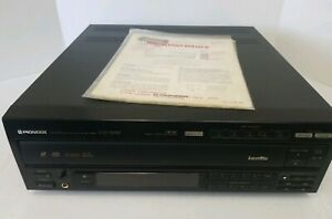 Pioneer-CLD-M90-Laserdisc-Player-5-CD-Disc-Carousel-FOR-PARTS-OR-REPAIR