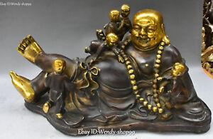 16-034-Chinese-Bronze-Gild-Sleeping-Happy-Laugh-Maitreya-Buddha-Tongzi-Kid-Statue