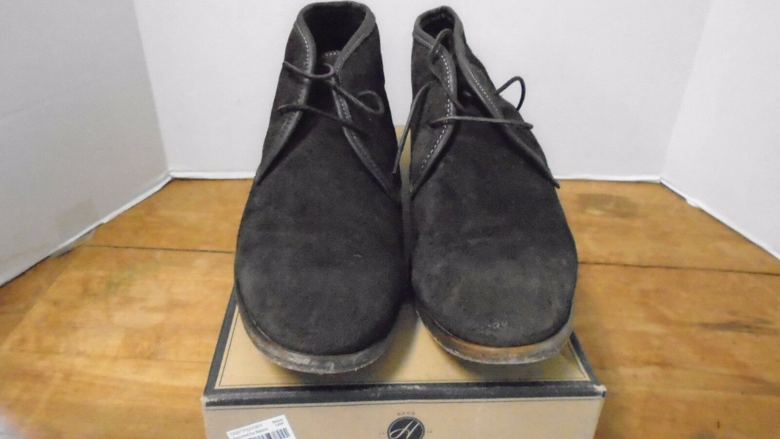 Hudson Fleet Men's Shoes Cruise Chocolate Brown 13 Suede Leather Portugal Boots