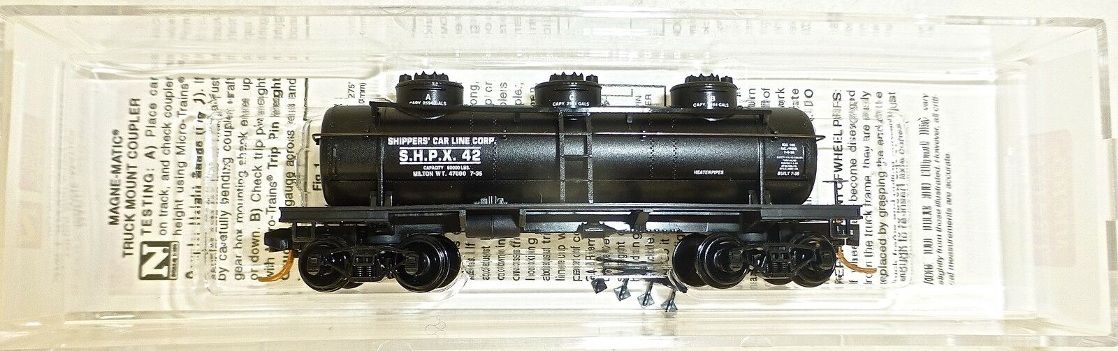 Shippers Tanque Linea Corp 3 Domo Tanker Micro Trains 066 00 070 1 160 Emb.orig
