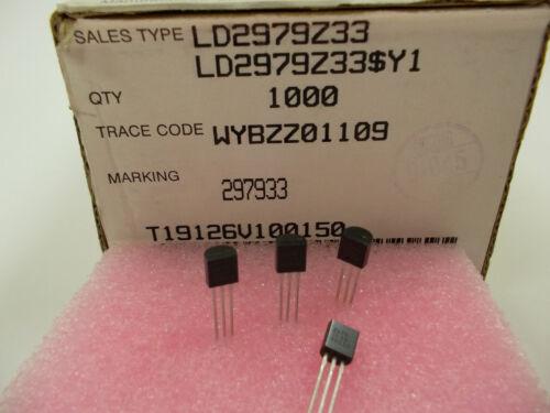 10 Stück// 10 pieces LD2979Z33 3,3V LDO VERY LOW DROP VOLTAGE REG TO-92  NEW ~