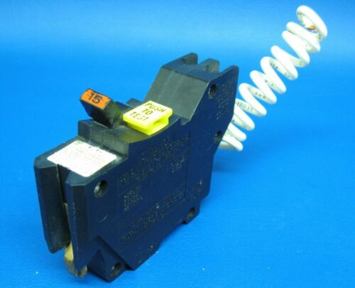 15 Amp Federal Pacific Ground Fault Interrupter FPE Stab Lok NA GFI Breaker GFCI