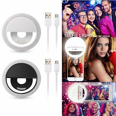 Brillant Rechargeable Selfie 36 Led Ring Flash Light For Iphone Samsung Htc Lg Huawei
