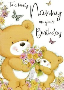 2 x cards to choose from! cute nanny happy birthday card
