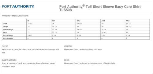 TLS508 Port Authority Men/'s Big /& Tall Button Down Short Sleeve Dress Shirt