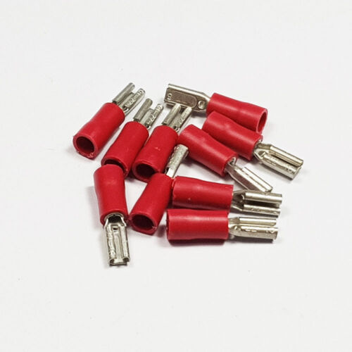 Insulated Red Female Spade Terminal Connector Terminals Crimp Electrical Cable
