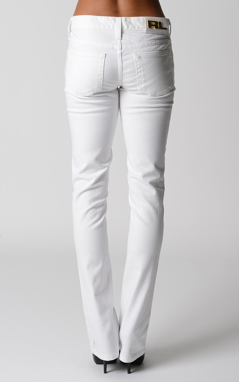 Ralph Lauren 380 Women's Stretch White Slim Fit Jeans Size 28 Gift For Her NWT