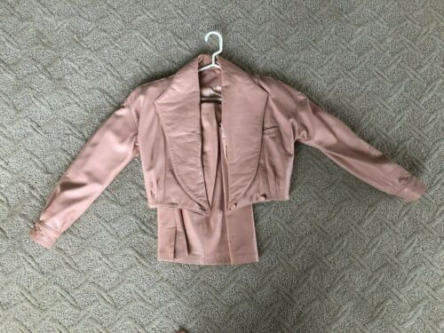 Pink Leather Suit