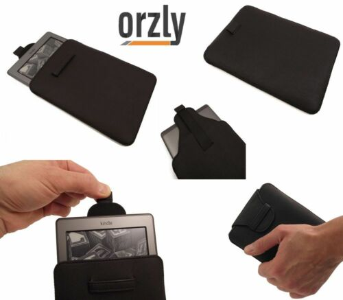 """Orzly Amazon Kindle 4 Wifi 6/"""" Pu Leather Slip Pouch Sleeve Case Cover NEW"""