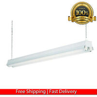 Garage Ceiling Lamp 2 Light White Fluorescent Lightning Workshop Shop Light