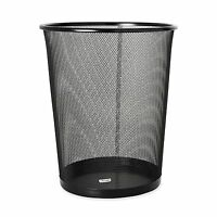 Rolodex Mesh Round Wastebasket, 11-1/2 Diameter X 14-1/4 H, Black (22351), on sale