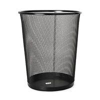 Rolodex Mesh Round Wastebasket, 11-1/2 Diameter X 14-1/4 H, Black (22351), on sale