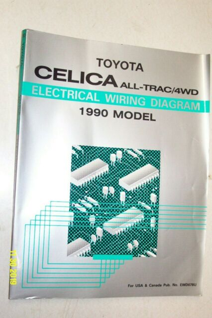 1988 Toyota Celica Electrical Wiring Diagram Shop Service Repair Manual Includes All Trac4wd