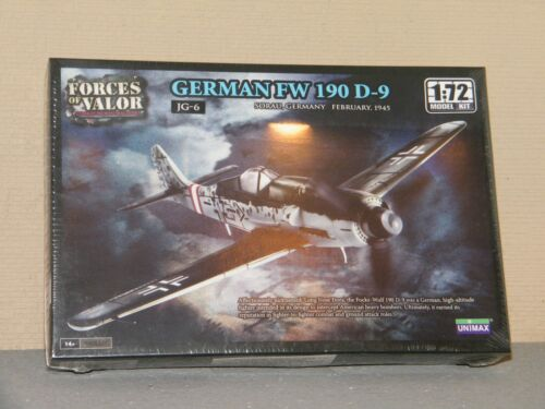 DESTOCKAGE AVION GERMAN FW 190 D 9 KIT FORCES OF VALOR UNIMAX 1:72 Ref 87008
