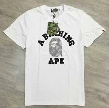 Men's Japan Camo Letters Design Casual Bape A Bathing Ape Tee Shirt Summer L