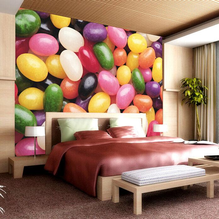 3D Die bunten süßigkeiten 786 Fototapeten Wandbild Fototapete BildTapete Familie